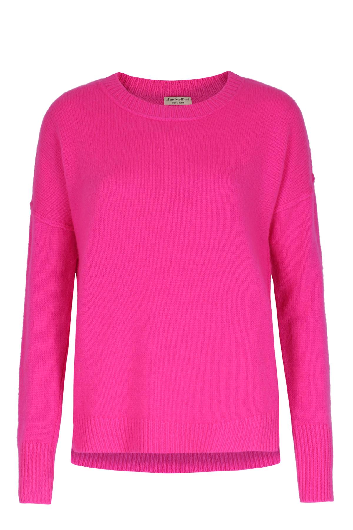 pullover brushed cashmere pink von new scotland bei cashmere. Black Bedroom Furniture Sets. Home Design Ideas