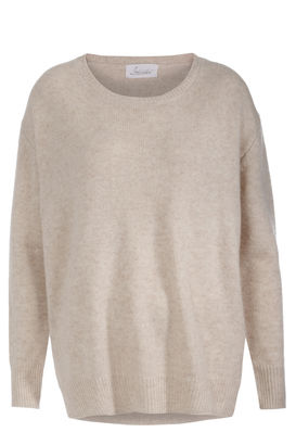 Oversize-Pullover aus Cashmere Light Gold Sand