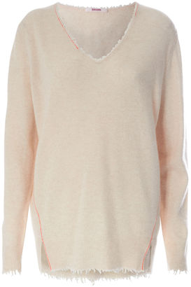 Cashmere-Pullover mit V-Neck Light Sand