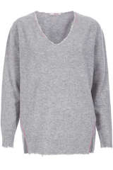 Cashmere-Pullover mit V-Neck Light Grey