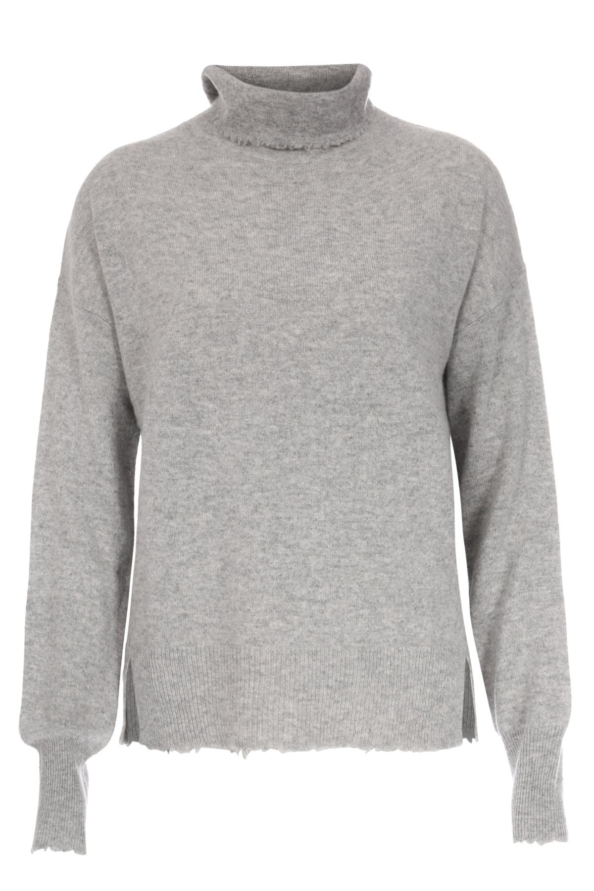 pullover aus cashmere mit rollkragen grey melange von bloom bei cashmere. Black Bedroom Furniture Sets. Home Design Ideas